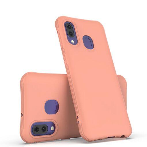 Samsung A40 tugevdatud nurkadega silikoonist umbris roosa 5