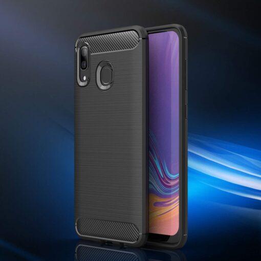 Samsung A40 umbris silikoonist Carbon must 1