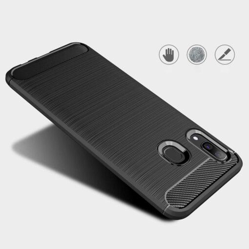 Samsung A40 umbris silikoonist Carbon must 2