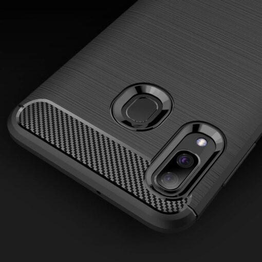 Samsung A40 umbris silikoonist Carbon must 3