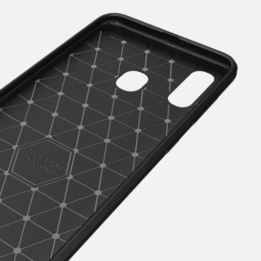 Samsung A40 umbris silikoonist Carbon must 4