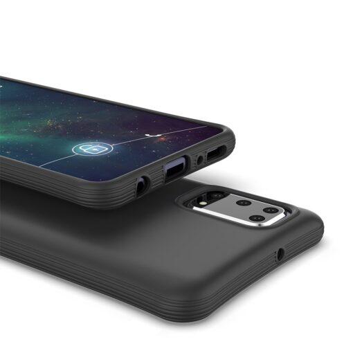 Samsung A41 tugevdatud nurkadega silikoonist umbris roosa 2