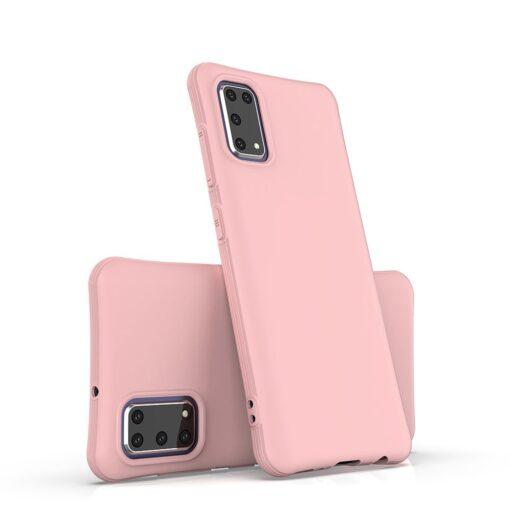 Samsung A41 tugevdatud nurkadega silikoonist umbris roosa 3