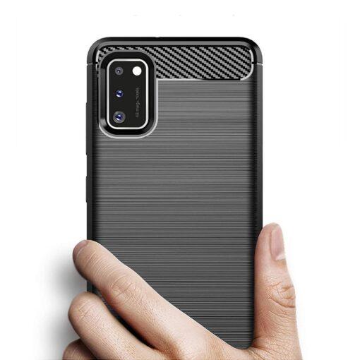 Samsung A41 umbris silikoonist Carbon must 1