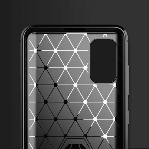 Samsung A41 umbris silikoonist Carbon must 2
