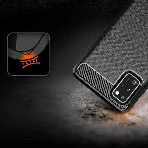 Samsung A41 umbris silikoonist Carbon must 3