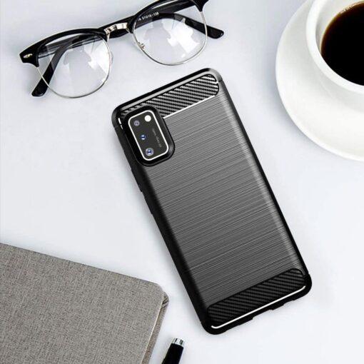 Samsung A41 umbris silikoonist Carbon must 4