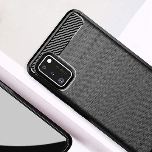Samsung A41 umbris silikoonist Carbon must 5