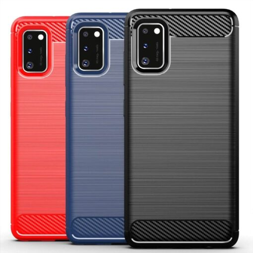 Samsung A41 umbris silikoonist Carbon must 6