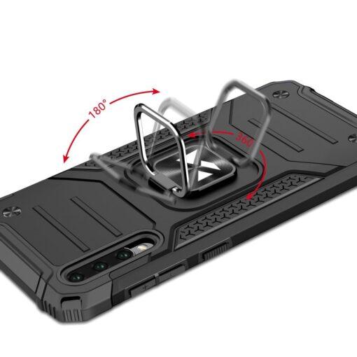 Samsung A50 tugev umbris Ring Armor plastikust taguse ja silikoonist nurkadega must 4