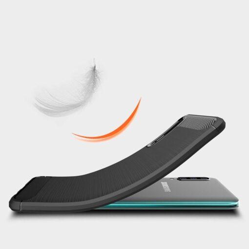 Samsung A50 umbris silikoonist Carbon must 1