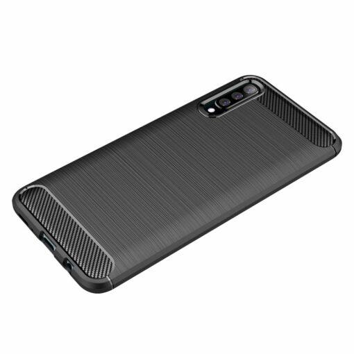 Samsung A50 umbris silikoonist Carbon must 3
