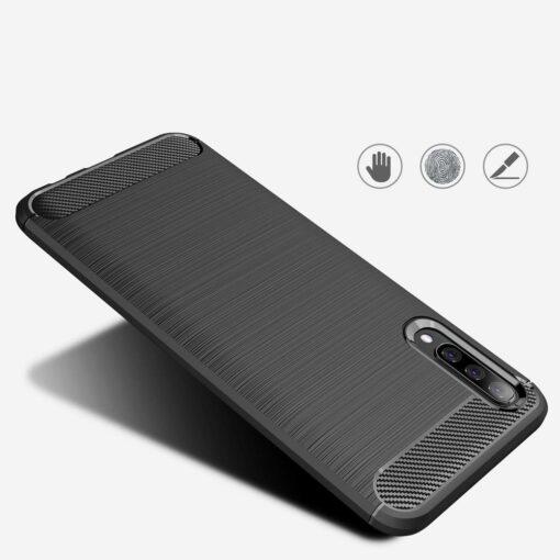 Samsung A50 umbris silikoonist Carbon must 4
