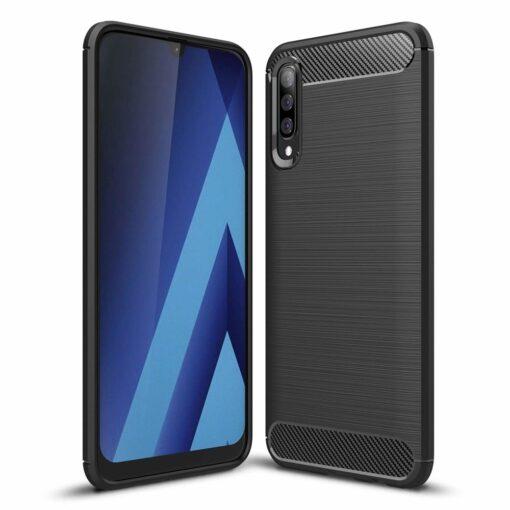 Samsung A50 umbris silikoonist Carbon must