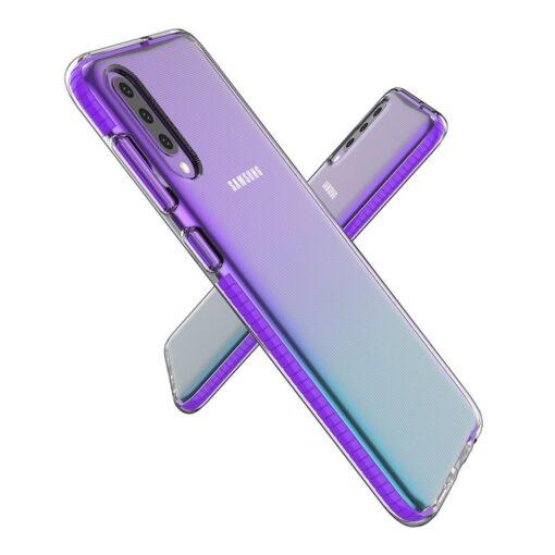 Samsung A50 umbris silikoonist varvilise raamiga roosa 2