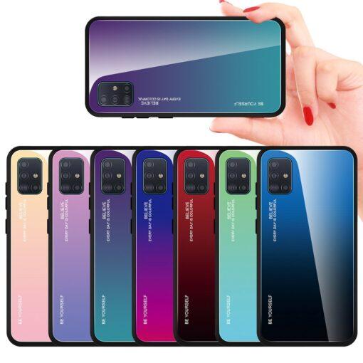 Samsung A51 umbris gradient must punane 11