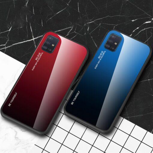 Samsung A51 umbris gradient must punane 12
