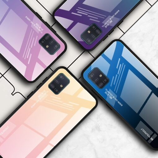 Samsung A51 umbris gradient must punane 13