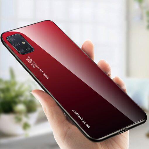 Samsung A51 umbris gradient must punane 16
