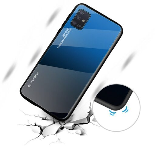 Samsung A51 umbris gradient must punane 5