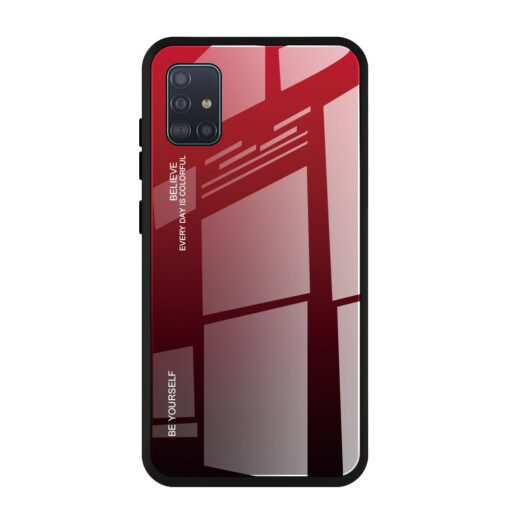 Samsung A51 umbris gradient must punane