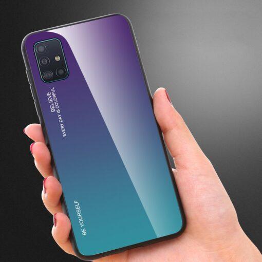 Samsung A51 umbris gradient must punane 6