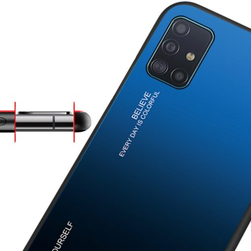 Samsung A51 umbris gradient must punane 9