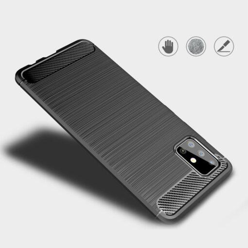 Samsung A51 umbris silikoonist Carbon must 1