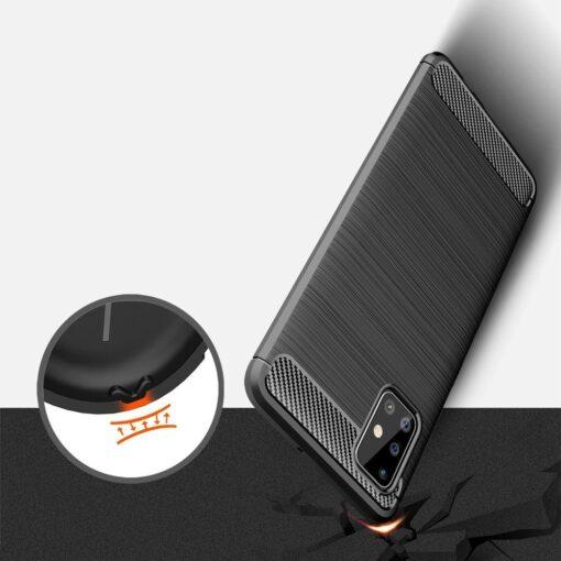 Samsung A51 umbris silikoonist Carbon must 2