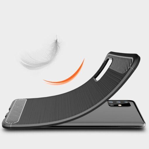 Samsung A51 umbris silikoonist Carbon must 3