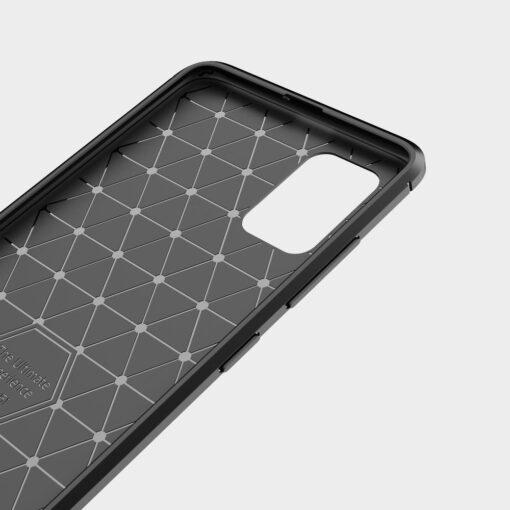 Samsung A51 umbris silikoonist Carbon must 4
