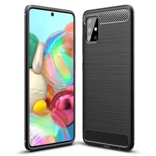 Samsung A51 umbris silikoonist Carbon must