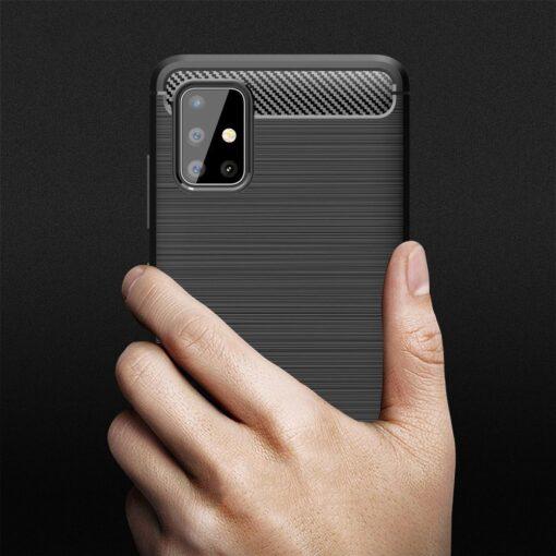 Samsung A51 umbris silikoonist Carbon must 6