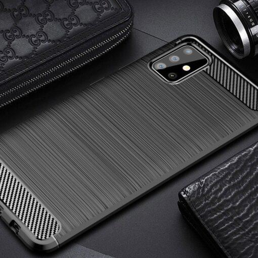Samsung A51 umbris silikoonist Carbon must 7