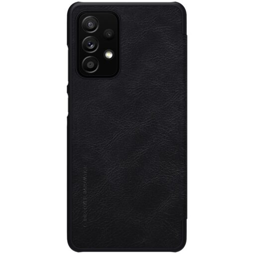 Samsung A52 kaaned Nillkin Qin nahast must 1