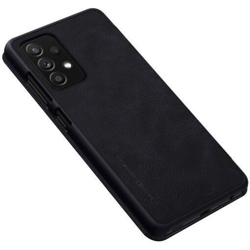 Samsung A52 kaaned Nillkin Qin nahast must 3
