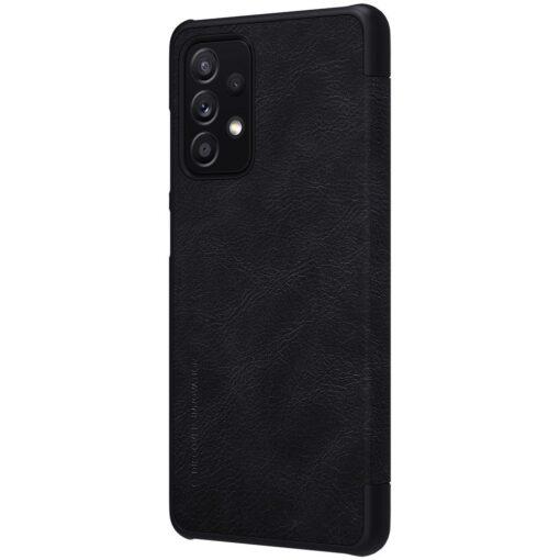 Samsung A52 kaaned Nillkin Qin nahast must 4
