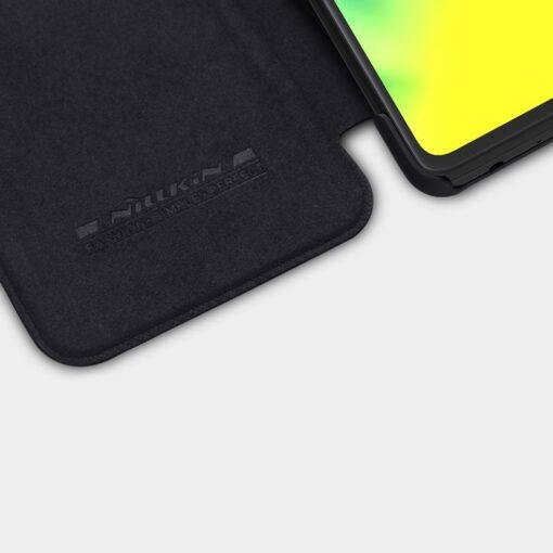 Samsung A52 kaaned Nillkin Qin nahast must 5