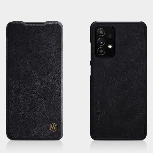 Samsung A52 kaaned Nillkin Qin nahast must 8