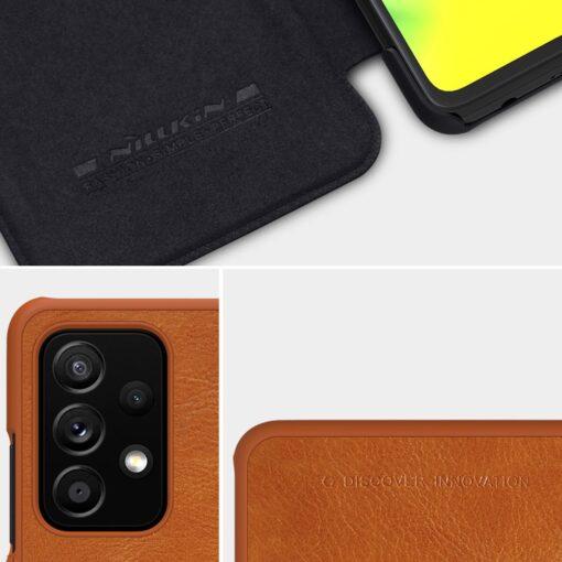 Samsung A52 kaaned Nillkin Qin nahast pruun 13