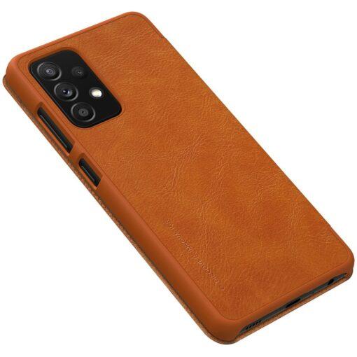 Samsung A52 kaaned Nillkin Qin nahast pruun 3