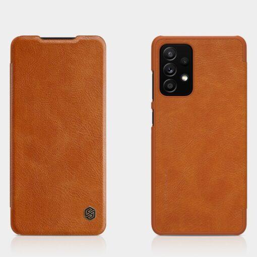 Samsung A52 kaaned Nillkin Qin nahast pruun 5
