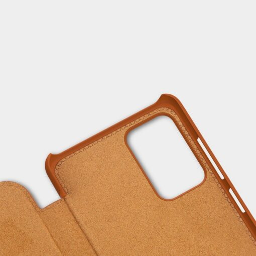 Samsung A52 kaaned Nillkin Qin nahast pruun 7