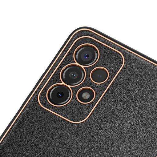 Samsung A52 umbris Dux Ducis Yolo elegant kunstnahast ja silikoonist servadega must 2