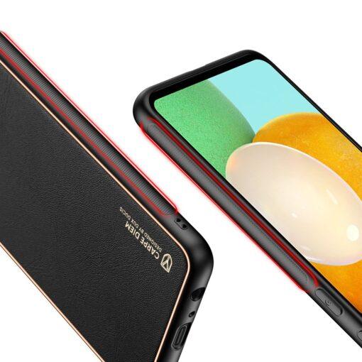 Samsung A52 umbris Dux Ducis Yolo elegant kunstnahast ja silikoonist servadega must 5