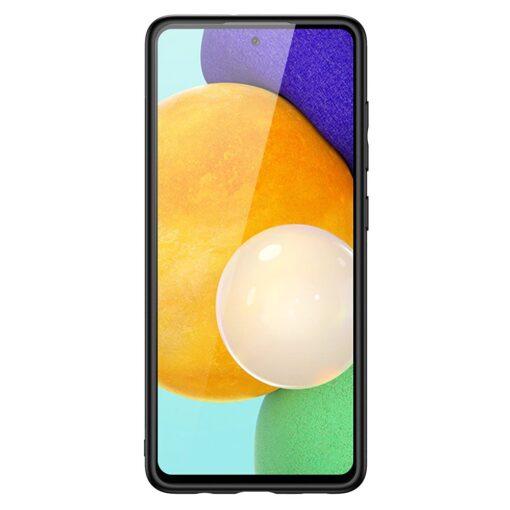 Samsung A52 umbris Dux Ducis Yolo elegant kunstnahast ja silikoonist servadega must 7
