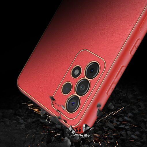 Samsung A52 umbris Dux Ducis Yolo elegant kunstnahast ja silikoonist servadega punane 10