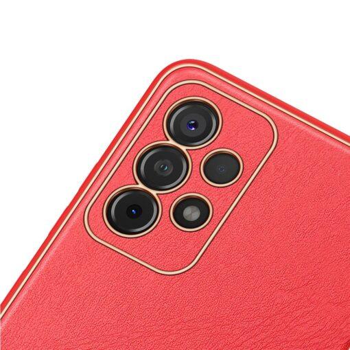 Samsung A52 umbris Dux Ducis Yolo elegant kunstnahast ja silikoonist servadega punane 2