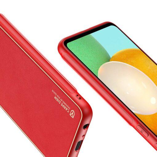 Samsung A52 umbris Dux Ducis Yolo elegant kunstnahast ja silikoonist servadega punane 5