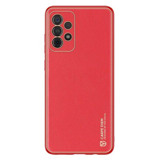 Samsung A52 umbris Dux Ducis Yolo elegant kunstnahast ja silikoonist servadega punane 6
